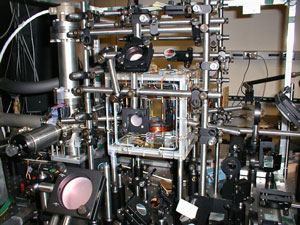 vacuum chamber surrounded by optics